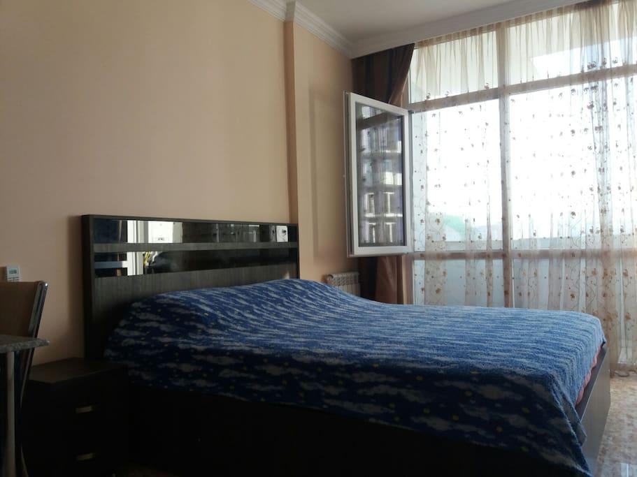 спальное место 160х200 , комфортный матрас толщиной 25см