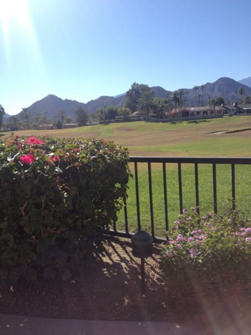 Stunning mountain and golf course views