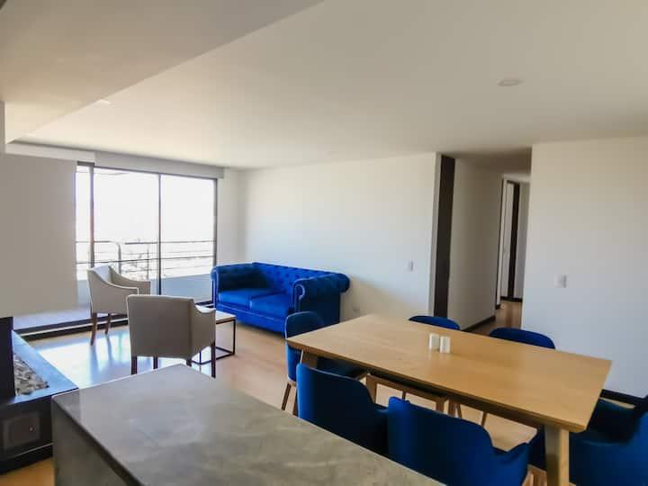 Departamento en Bogotá con gran paisaje