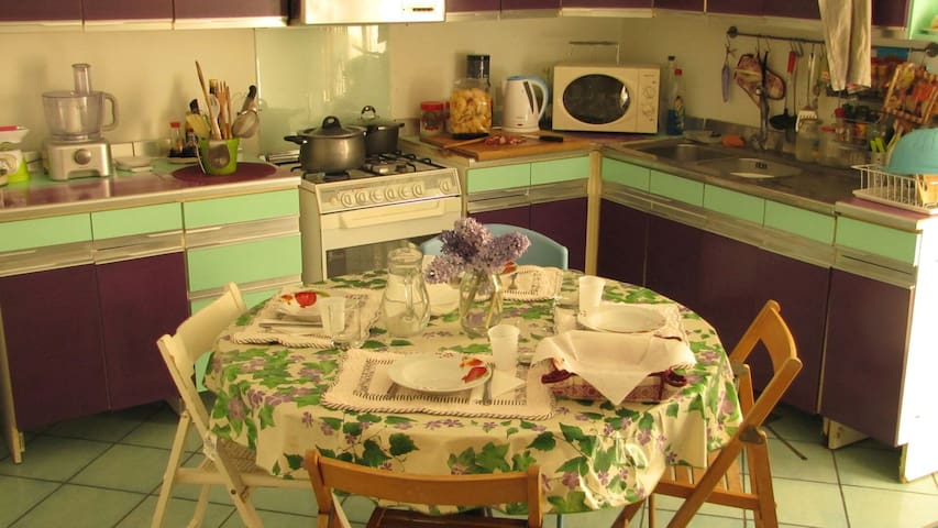 Bright and comfortable room with balcony - Palermo - Daire