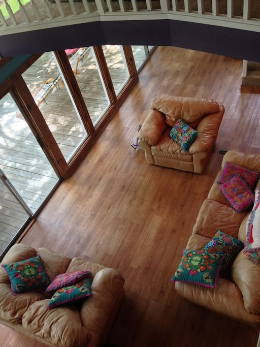 View of the living room from upstairs