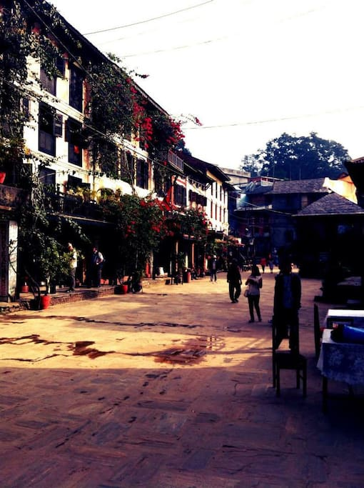 Peaceful old Bazaar where we sleep and have peaceful time