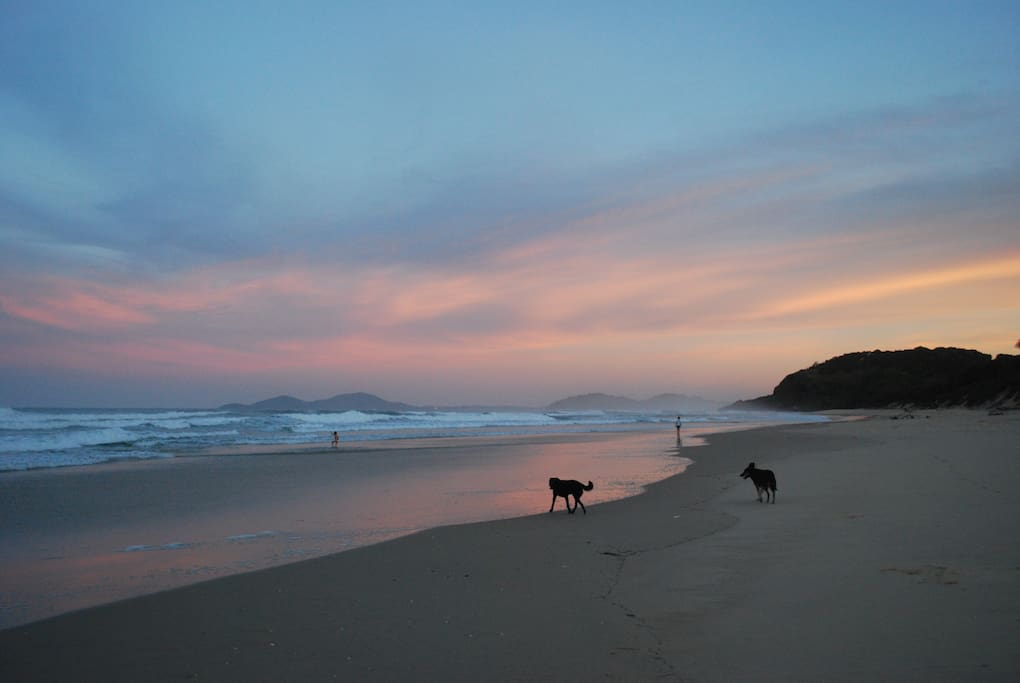 5 minutes drive from remote north coast beaches
