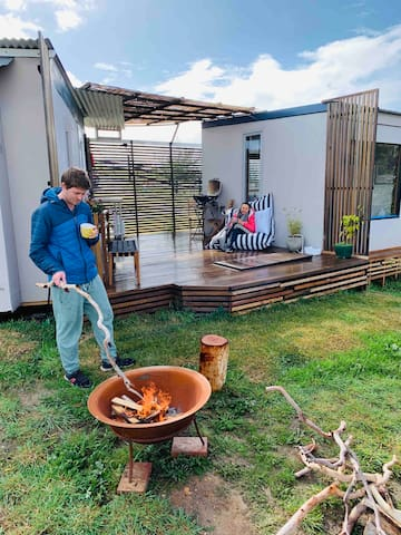 Glamping minamilism with Luxury touches
