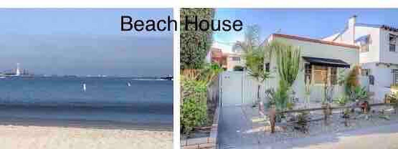 Beach Bungalow studio front duplex, private ,gated