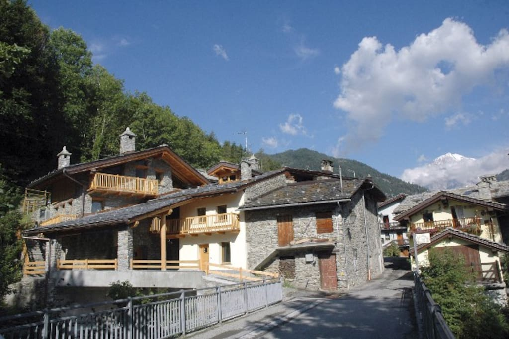 The Chalet and the village