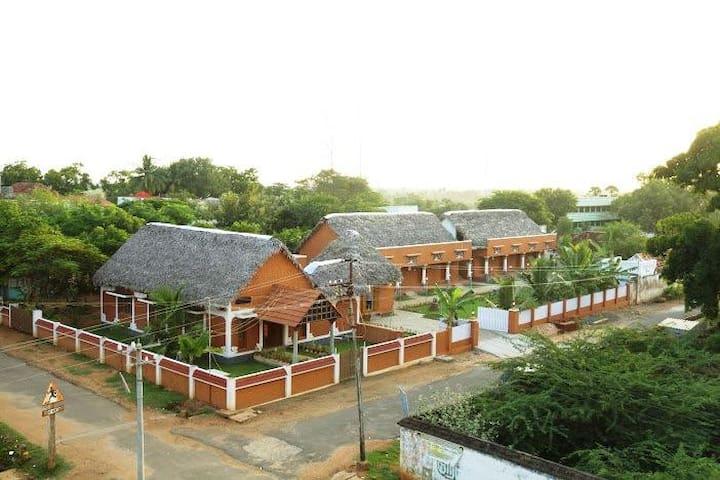 AirConditioned room in a Chettinadu Village Resort
