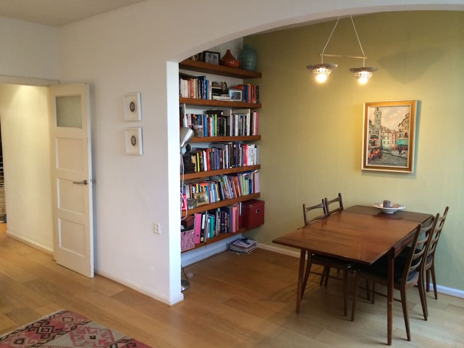 The livingroom part 2, feel free to take a look at our bookcollection!