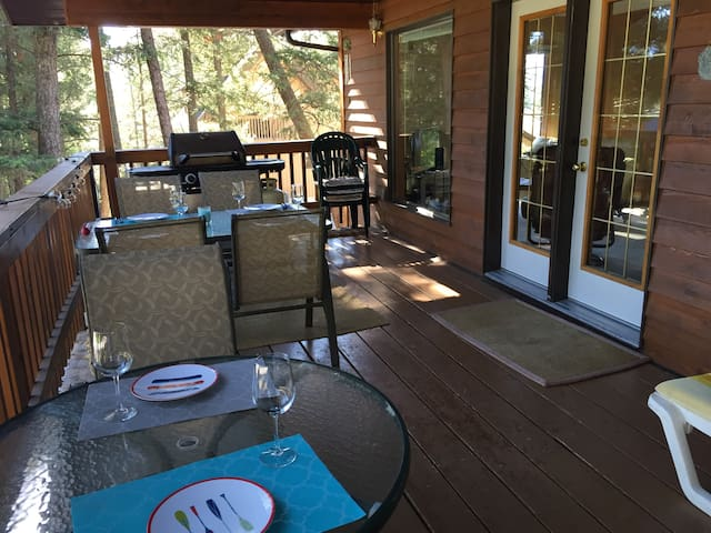 Relax on the large outdoor deck.