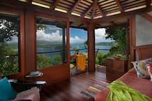 The main living area and sea view