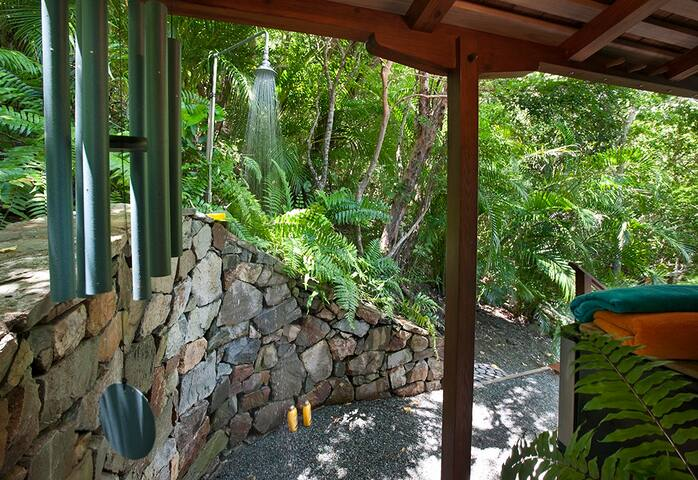 An additional outdoor shower just in case
