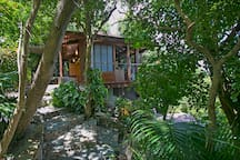 Buried into the trees, it is a most private and romantic cottage.