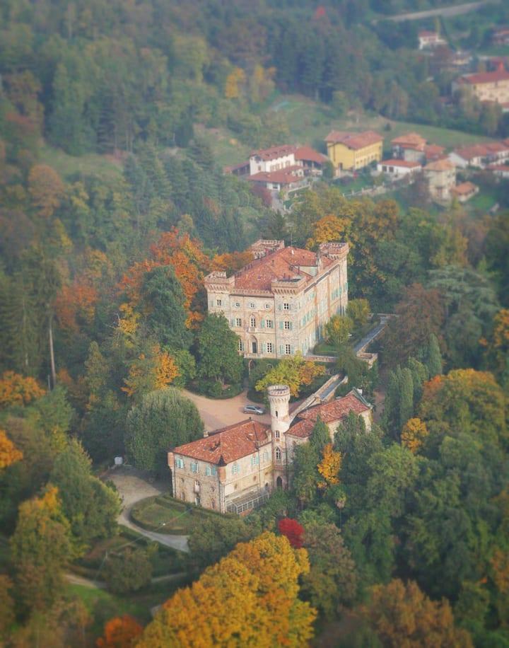 Two rooms in a castle near Biella