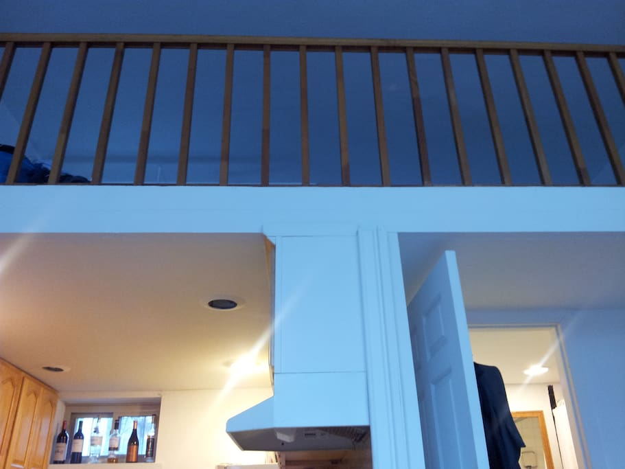 View looking up to the duplex