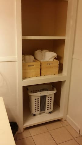 We provide the towels, hair dryer, soap, shampoo, and even mouthwash!
