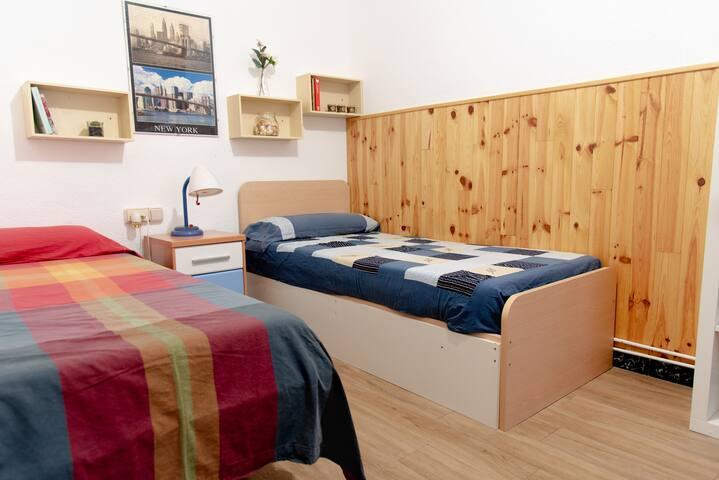 Habitación linda y cómoda