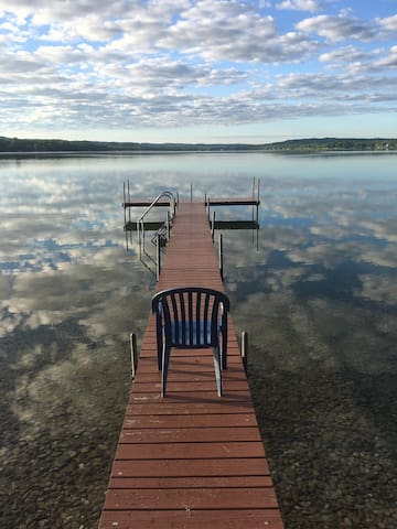 Lake view from our dock