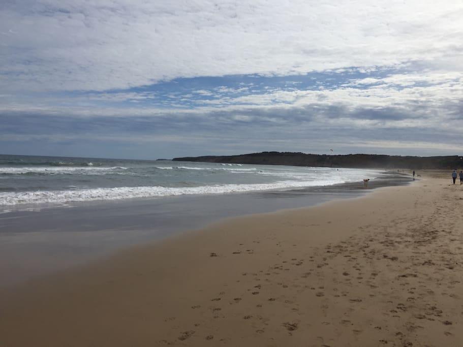 Jan Juc Beach just a few minutes away