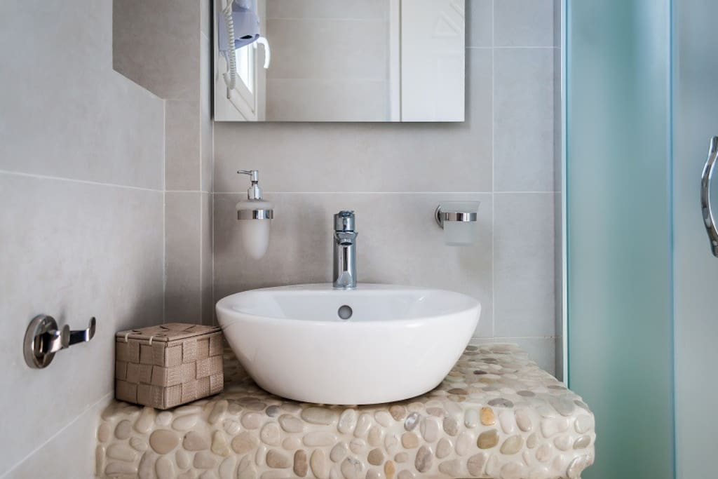 Bathroom desing of the Sea view suite