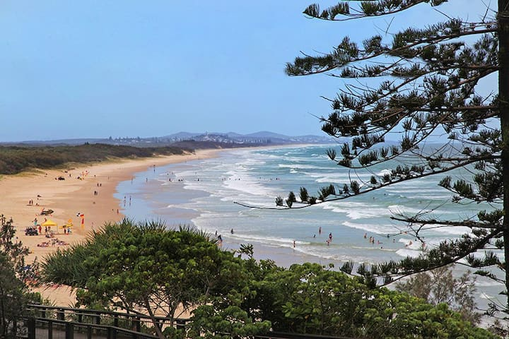 Absolute Beachfront Apartment With Free Wifi - Coolum Beach - Apartmen