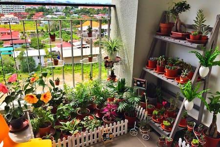 两卧室独立私密卫浴家庭房 三床可住四人 免费接机 - Kota Kinabalu - Wohnung