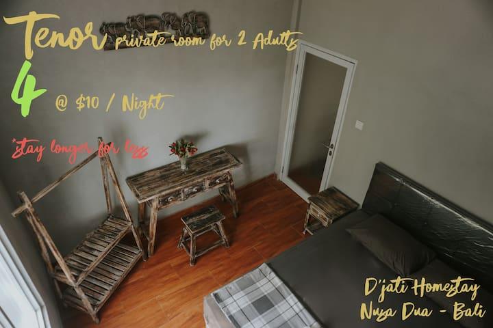 Budget room in Nusa Dua @ D'jati Homestay | 4