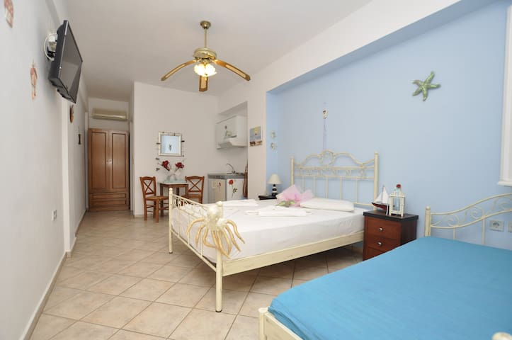 Manos studios for 2 with kitchen