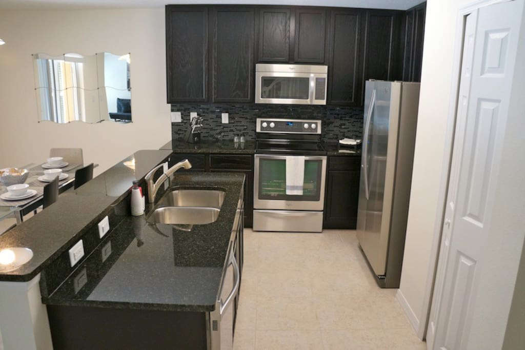 Modern Kitchen /Stainless Steel fully equipped,Dishes, Cups, Pots , Pans and Much more!!