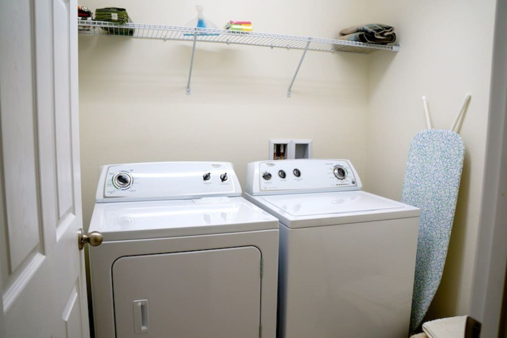 Full size Washer and Dryer /* Detergeant not included