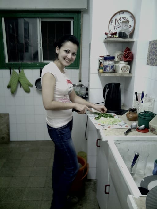 what a pleasure to cook my dinner in such a nice kitchen!