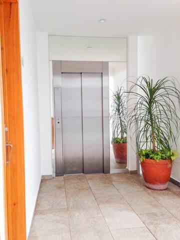 Elevator access.
