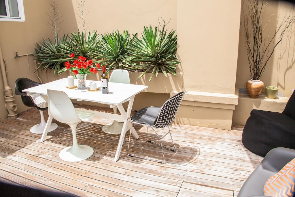 lunch in the sun on your own private terrace