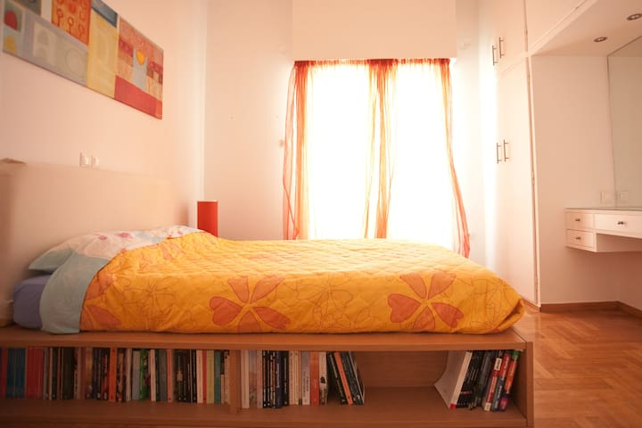 The Master bedroom - with pleanty of Greek sunshine  and positive energy