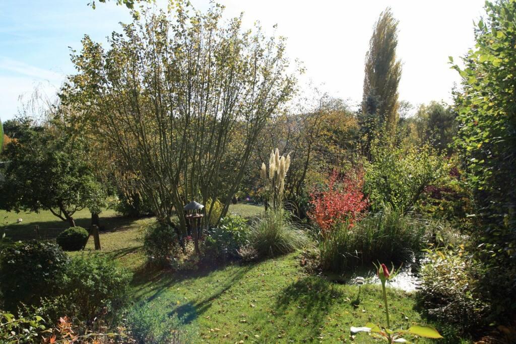 Le jardin, côté sud