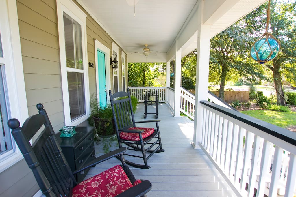 Porches all around for that Southern Charleston feeling.