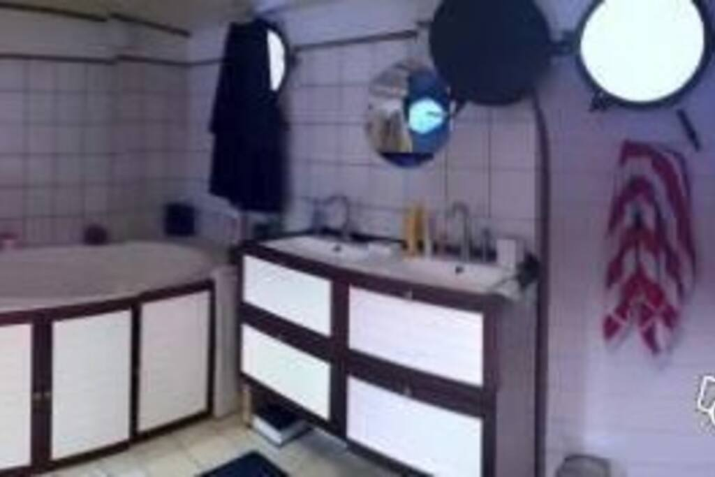 La salle de bain dans la chambre de Nicolas