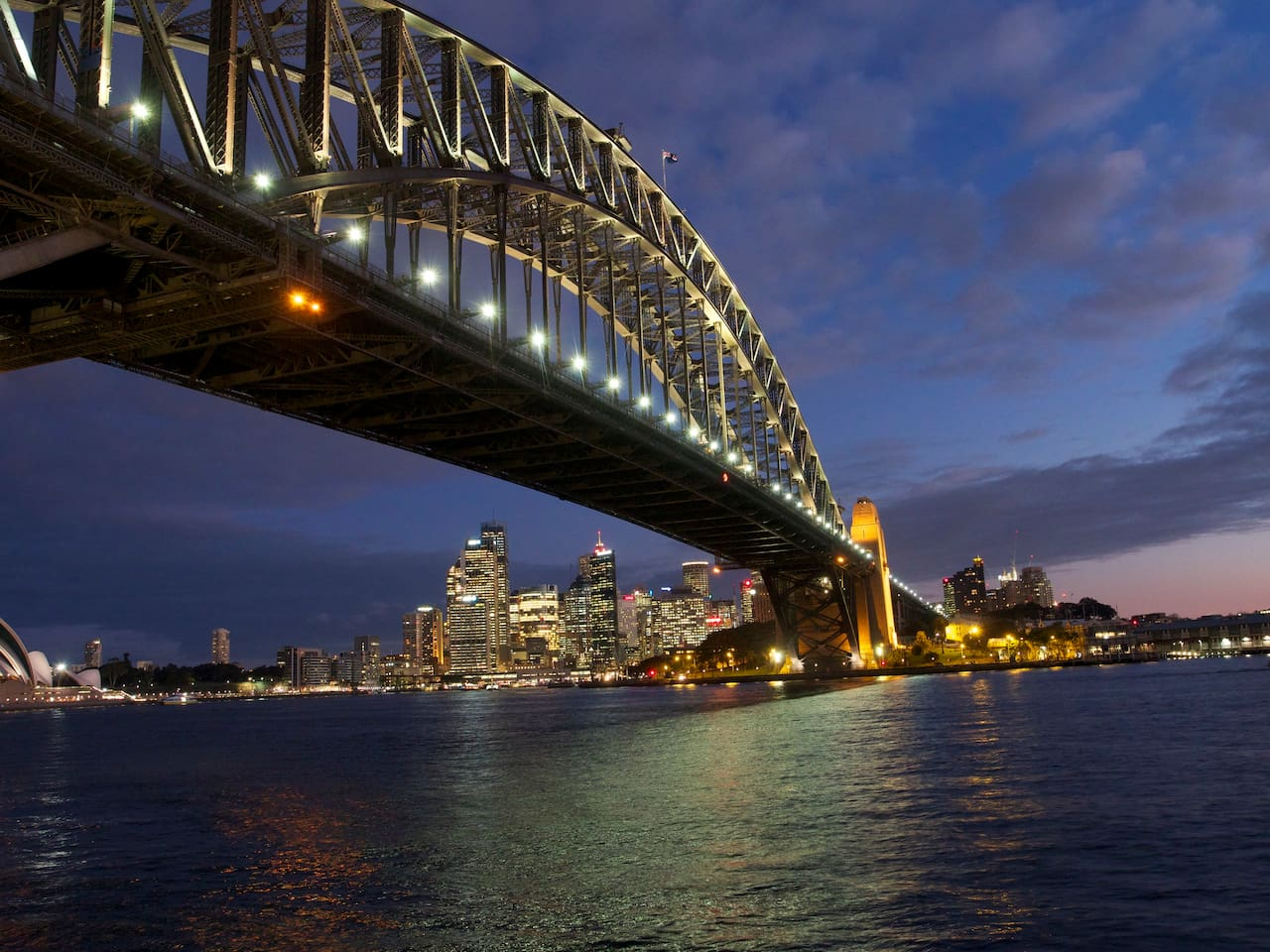 5 minute walk to Sydney's Iconic Harbour Bridge and perfect place to see in the new year.