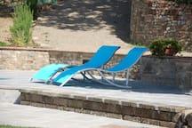 Natural shade near the pool