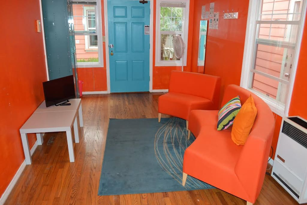 Cozy living area with wifi and smart TVs all included in monthly price!