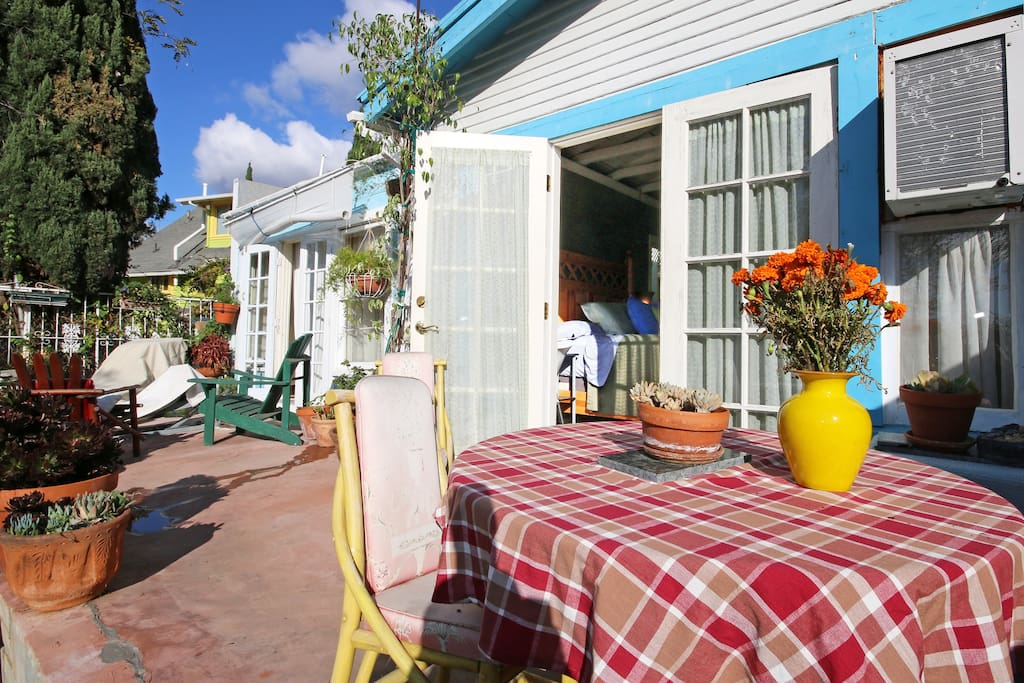french doors as seen from casita patio