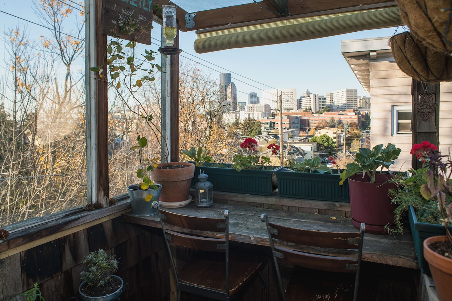 Enjoy views of Seattle's First Hill.