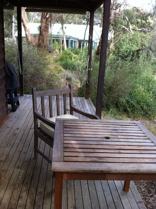 Relax on your secluded deck