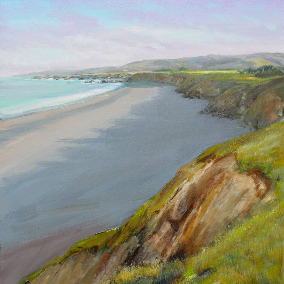 BODEGA BAY COAST painting by Charles Beck.