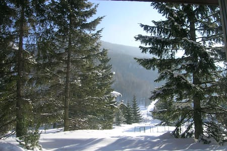 Vista sulle montagne con giardino - Pragelato Rivet