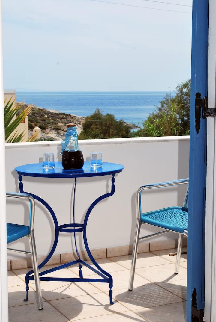 Manos studios for 2 with sea view