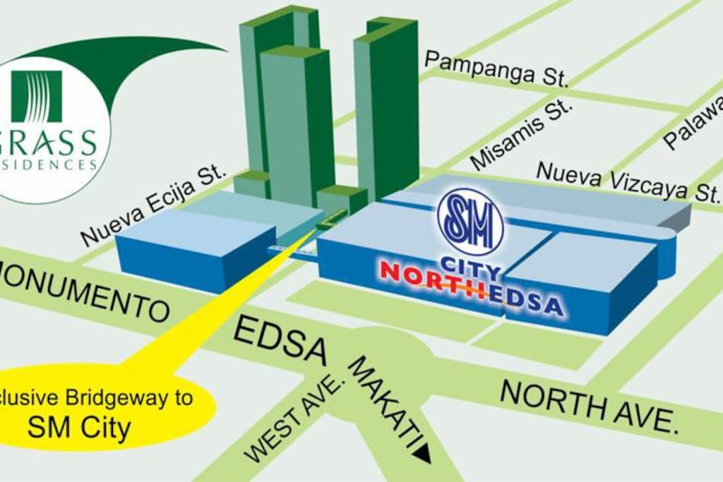 convenient location: 2 big malls, mrt station, bus stops to the metro and bus station to north provincial area is just within walking distance. The unit is within the tower closest to SM City Mall bridgeway.