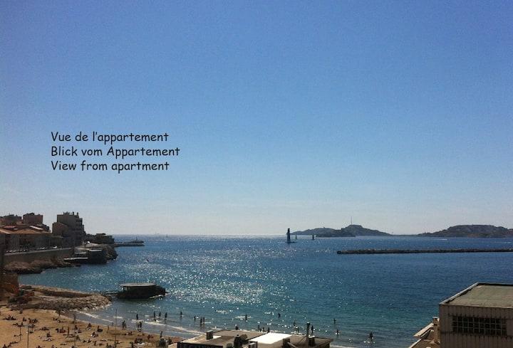 Marseille Vieux Port - Plage des Catalans - Pharo