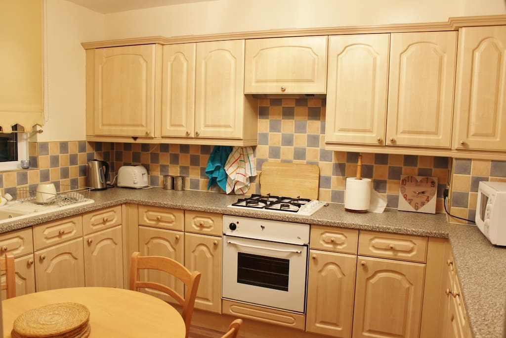 Large kitchen with completed with everything