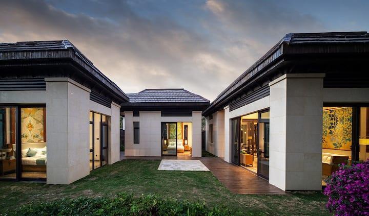 陵水香水湾海边2房1厅独栋听海别墅+私家院子+4位自助早餐+泳池+沙滩