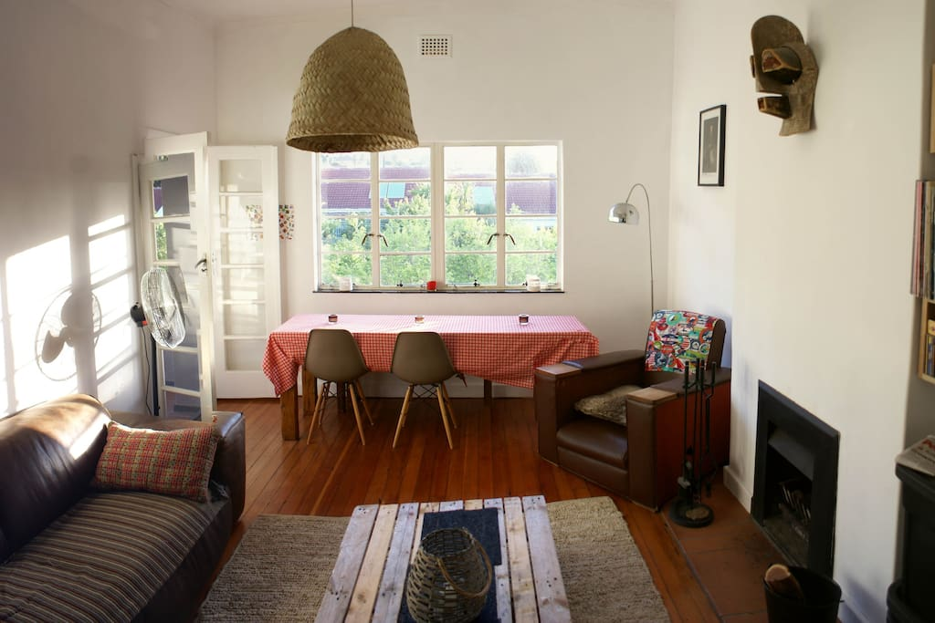 Living room is large and spacious and has fireplace for those unexpected Cape Town chilly evenings.
